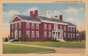 Maryland Fort Meade Post Headquarters 1943 Curteich