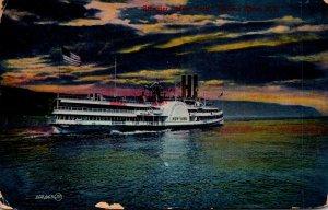 New York Hudson River Steamer New York 1908