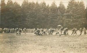 Football Game Action Sports 1910 Stockton California RPPC real photo 6605