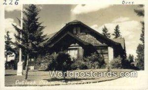 Outlook Cabin Jasper Park Lodge Canada Writing On Back