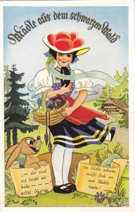 Schwarzwald , Germany , 40-50s ; Pop-out Views , Native Girl