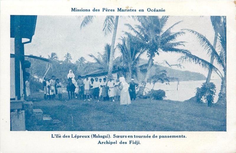 Leprosy Island FIJI Makogai Peres Maristes Missions leper colony malades Fidji