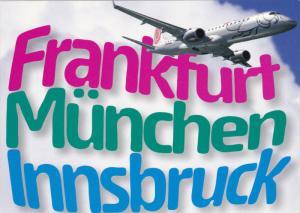 NIKI Airlines Jet Airplane , Frankfurt-Munchen-Innsbruck , 80-90s
