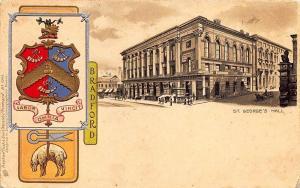 Heraldic Bradford St George's Hall Raphael Tuck Postcard