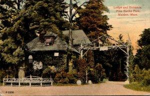 Massachusetts Malden Pine Banks Park Entrance and Lodge
