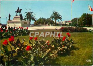 Modern Postcard Ajaccio The Statue of Napoleon 1st and his four brothers Plac...