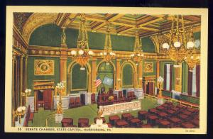 Harrisburg, Pennsylvania/PA Postcard, Senate Chamber, State Capitol