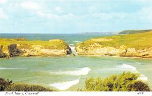 Vintage Postcard CORNWALL Porth Island H. Barton #A1CF