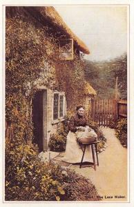 Nostalgia Postcard 1890s The Lace Maker, Country Life, Reproduction Card NS5