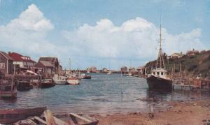 Ship dock , Gaspe , Quebec , Canada , PU-1954