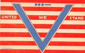Patriotic Post Card Old Vintage Antique Postcard United We Stand, Victory Ser...