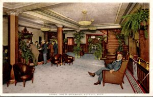Michigan Detroit Hotel Griswold The Lobby Detroit Publishing