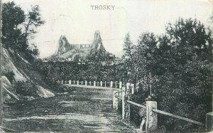 Postcard Czech Republic Trosky mountain road