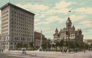 WINNIPEG, Manitoba, Canada, 1900-10s; City Hall and Union Bank