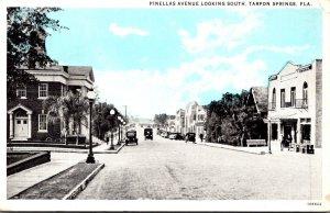 Florida Tarpon Springs Pinellas Avenue Looking South Curteich