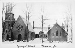 Montrose Pennsylvania Episcopal Church Real Photo Antique Postcard K58753