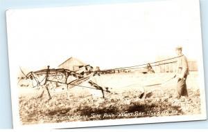 *Old Grey Mare Grasshopper Hoeing Farmer's Field Farm Comic Vintage Postcard C71