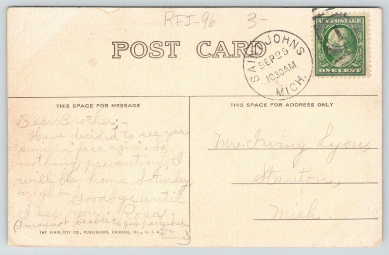RPPC World's Youngest Cowboy Papergirl~Rosa's Got News~Will See Irving Sat* 1906
