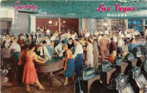 Las Vegas Nevada~Hotel Flamingo Casino~Gambling~Slot Machines~Blackjack~1950s Pc