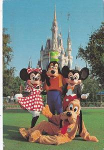 Florida Orlando Walt Disney World Mickey Mouse Minnie Goofy & Pluto With ...