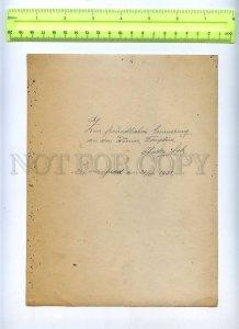 230379 RUSSIA Circus tamer BEAR Charles LEBS autograph 1928 ye