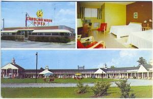 Santee SC Carolina Moon Motel & Diner Interior Exterior Vintage Postcard