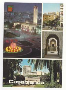 Morocco Maroc Casablanca Multiview Four Views Vintage 4X6 Postcard