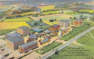 Maryland Baltimore View Of Calvert City Home Of Calvert Distilling Company