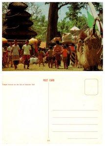 Temple festival on the Isle of Sakenan, Bali, Indonesia