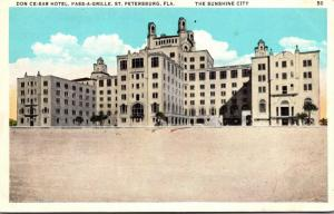 Florida Pass-A-Grille Beach Don Cesar Hotel From The Beach