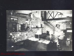 RPPC HOLLISTER MISSOURI YE ENGLISH INN HOTEL INTERIOR MO. REAL PHOTO POSTCARD