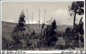 ecuador, QUITO, Volcán El Altar, Volcano (1940s) RPPC