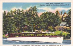 New York Alexandria Bay Uncle Sam Tour Boat Leaving Hotel Crossman Dock