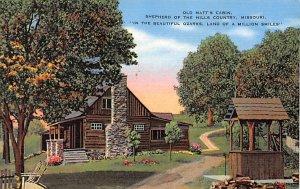 Old Matt's cabin, Shepherd of the Hills country Missouri, USA Landmark 1940