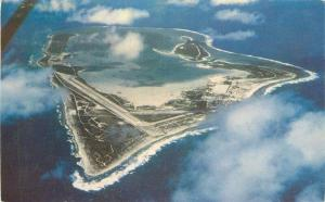 Aerial View Wake Island 1955 South Pacific Postcard 2658