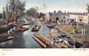 MEXICO CITY MEXICO~CANAL de VIGA~JGS #559 PUBL POSTCARD 1900s