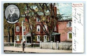 Postcard Longfellow Mansion, Portland ME Maine 1906 G33