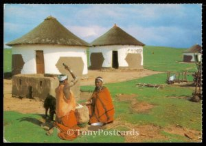 Transkei - Tembo Woman in traditional red blanket