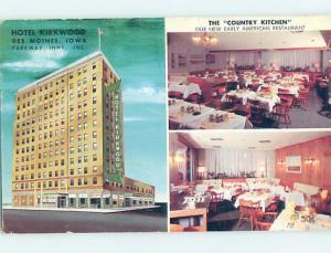 Pre-1980 HOTEL SCENE Des Moines Iowa IA H0780