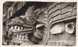 RP: Mexico , 40-60s ; Close-up of carving , Piramide del Sol , San Juan Teoti...