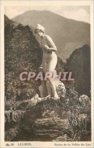 Old Postcard Luchon Statue of Lys Valley
