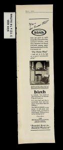 1925 Beautiful Birch Interior and Furniture Vintage Print ad 14838