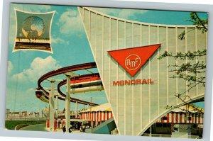 New York City NY-New York, The Monorail, World's Fair, Chrome Postcard