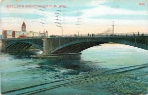 Minneapolis~Steel Arch Bridge~Witte Bros~Mfg Bank Saloon Fixtures Billiards~1911