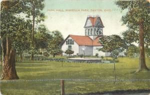 Canton Ohio~Nimisilla Park~Park Hall~Fountain Spray~1910 Postcard