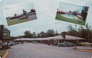 WILLIAMSTON, North Carolina, 1950-60s; Breezewood Motel & Restaurant, Swimmin...