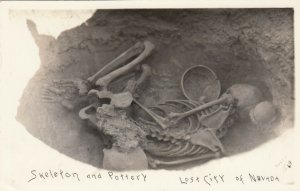RP: Lost City of Nevada , 1920s ; Indian Skeleton & Pottery