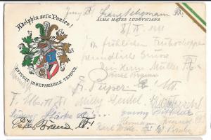 Adelphia Sei's Panier PPC German Studentica Postcard, Hanover 1911 PMK - Leipzig