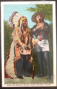 Mint USA PPC Picture Postcard Native American Indian Buffalo Bill & Sitting Bull