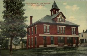 Penacook NH Washington St. Fire Station c1910 Postcard